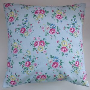 "Cushion Cover in Cath Kidston Latimer Rose and Aqua Spot 14"" 16"" 18"" 20"""